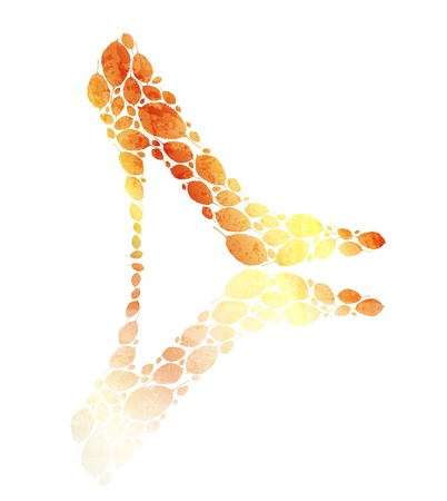 golden shoe Vector