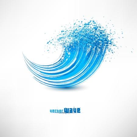 물결: 블루 웨이브 기호 일러스트