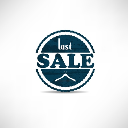 retro vintage grunge label. Last Sale Stock Vector - 12153855