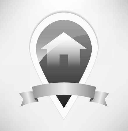 home security system: vector home icon design Illustration