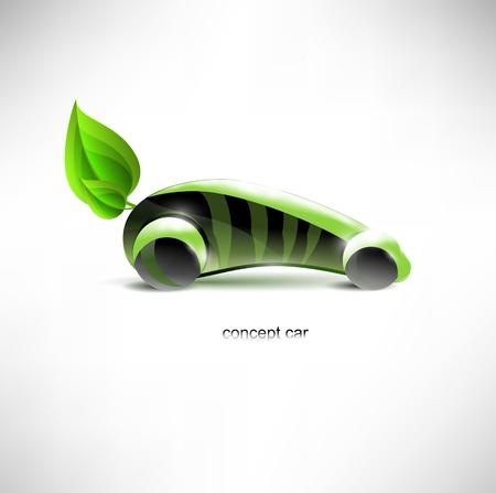 eco car: Concepto de coche ecol�gico.