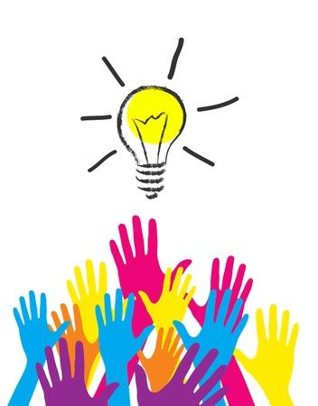 illustration of idea bulb.