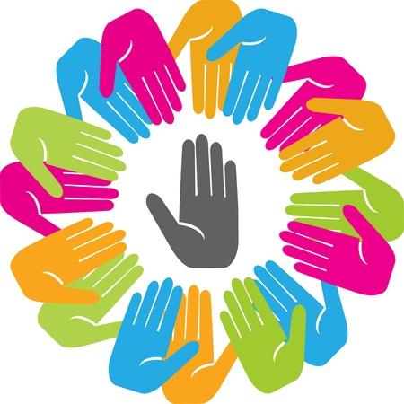 humanidad: Uni�n. El concepto de reunir a la gente alrededor de un l�der