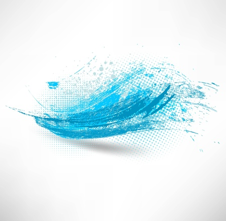 Blue wave sign Vector