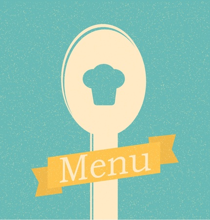 soup pot: restaurant menu retro poster