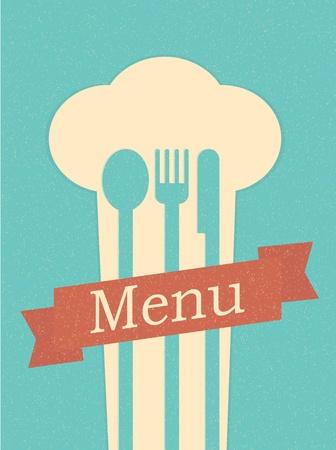 레스토랑 메뉴 복고풍 포스터