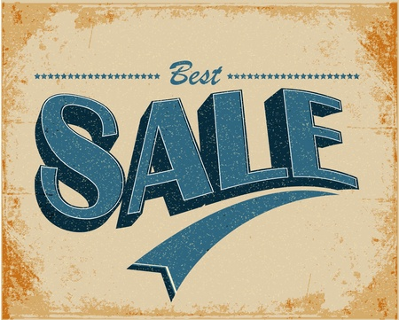 Sale Vintage Poster Stock Vector - 12351421