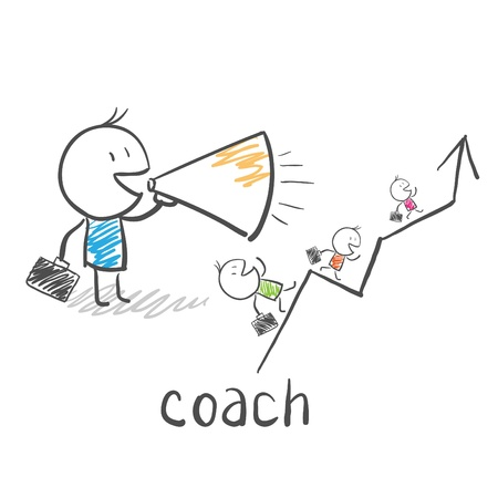 Business coach, trainer  Vector