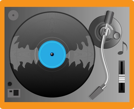 Illustration of a turntable Illustration