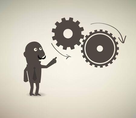 cartoons outline: business concept