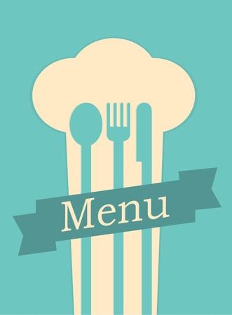 soup spoon: menu van het restaurant retro poster