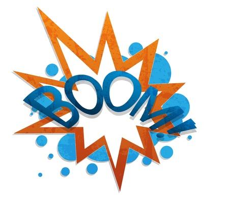accident cartoon: boom