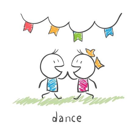 カップルのダンス