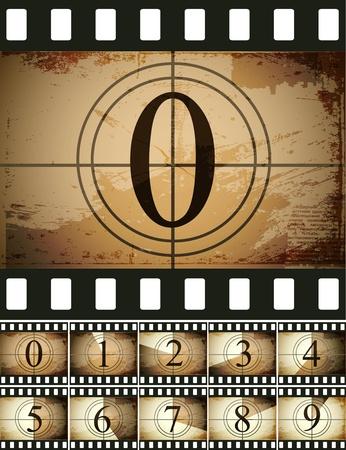 film strip: Grunge film countdown
