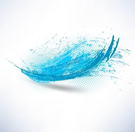 Blauwe golf Stockfoto