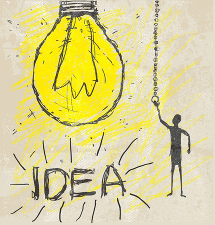 create idea: bulb drawing