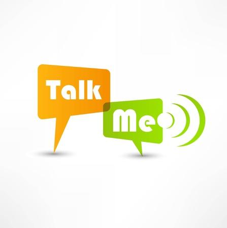 talk balloon: Talk me concept speech bubbles