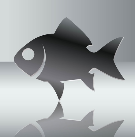 Silhouette of fish illustration Vector
