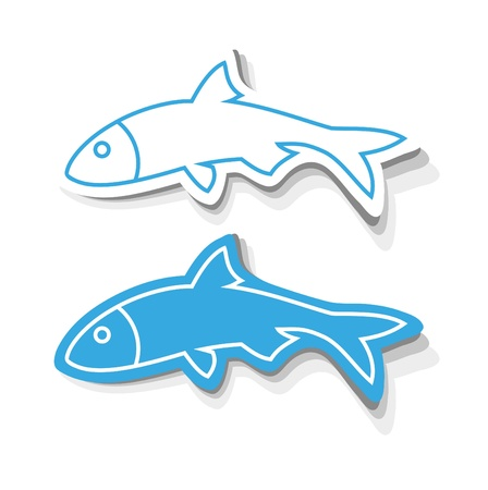 skeleton fish: Fish Icons Illustration