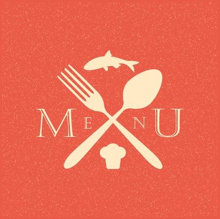 restaurant menu retro poster Stock Vector - 12492801