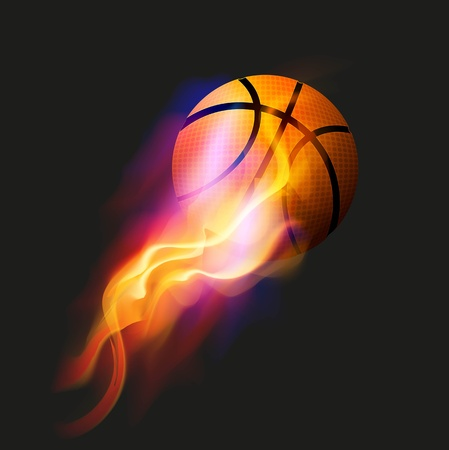 Basket-ball Fire Ball Banque d'images - 12492579