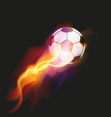 Soccer Fire Ball Vector