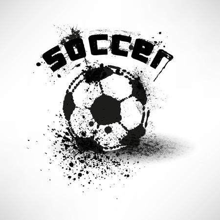 grunge soccer ball  Stock Vector - 12492424