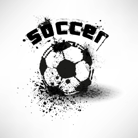 fast ball: grunge soccer ball