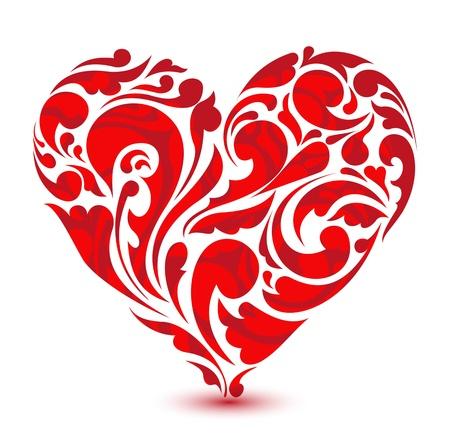 corazón floral abstracto concepto de amor