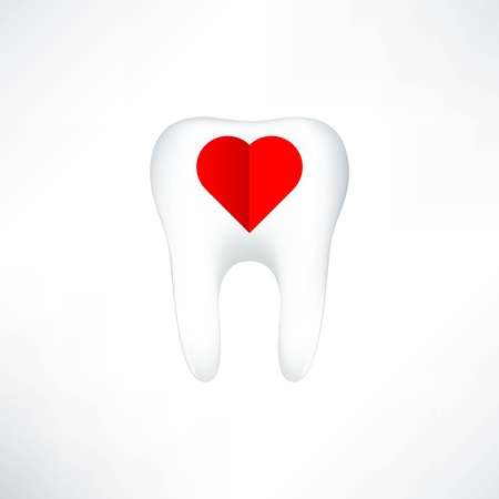 cavities: Tooth  On White Background  Vector Illustration