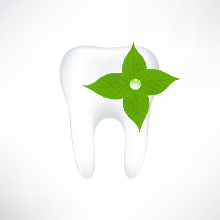 dental caries: Tooth  On White Background  Vector Illustration
