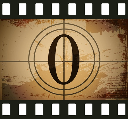 Grunge film countdown Stock Vector - 12715409