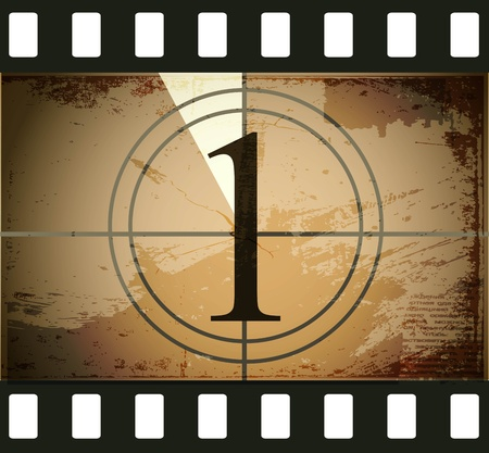 Grunge film countdown Stock Vector - 12715265