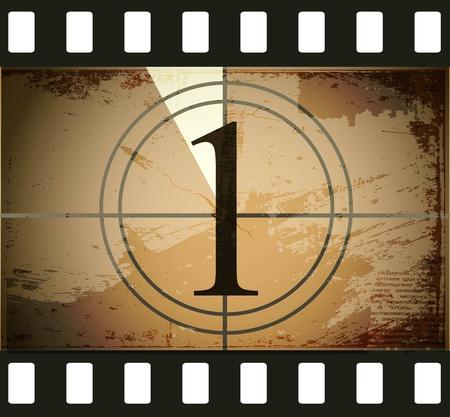 Roll film: Grunge pel�cula cuenta regresiva
