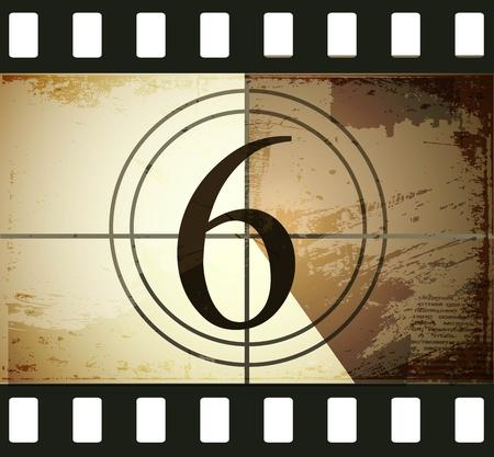 Grunge film countdown Stock Vector - 12715254