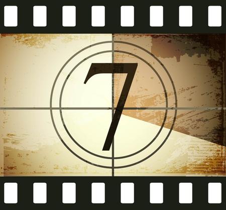 Grunge film countdown Stock Vector - 12715260