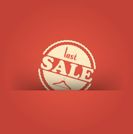 retro vintage grunge label. Last Sale Vector