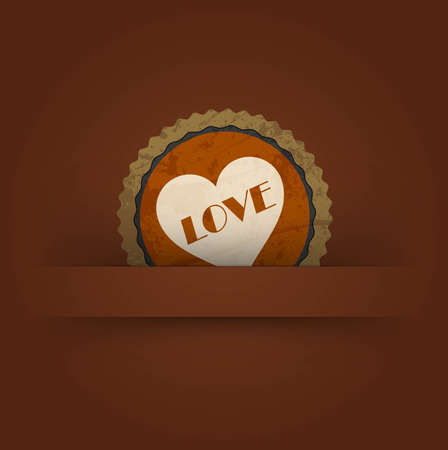 vintage retro love labels Vector