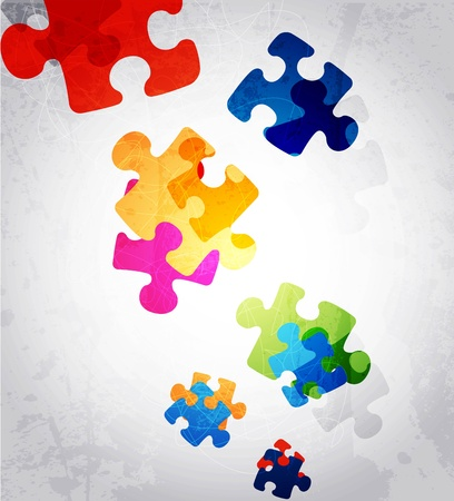 abstract puzzle shape colorful vector design Illusztráció