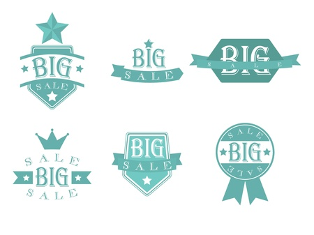 Big sale with retro vintage styled design Vector