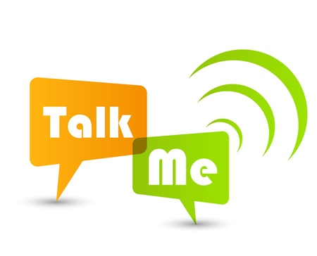 Talk me concept speech bubbles Stock Vector - 12714976