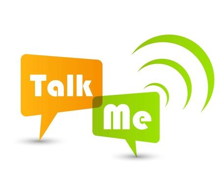 Talk me concept speech bubbles Stock Vector - 12714976