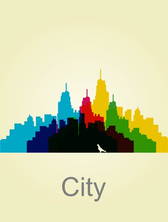 The city wall. abstract illustration. Vector Background Vector