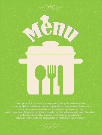 restaurant menu retro poster Stock Vector - 12715557