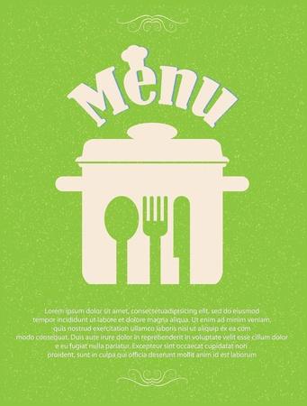 restaurant menu retro poster Stock Vector - 12715557