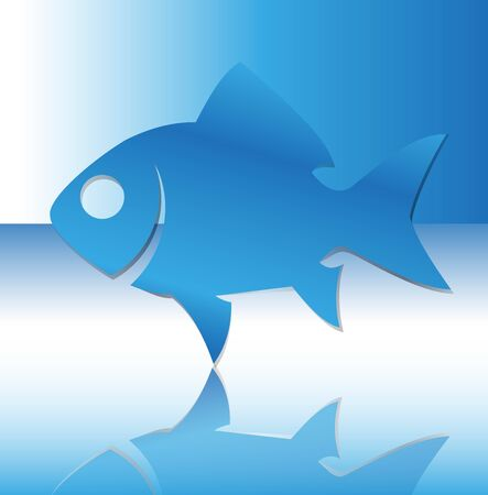 reflection of life: Silhouette of fish illustration