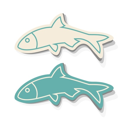 underwater fishes: Fish Icons Illustration