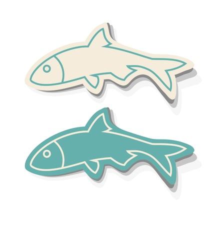 Fish Icons Vettoriali