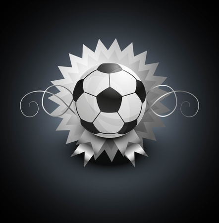Football ball background Vector