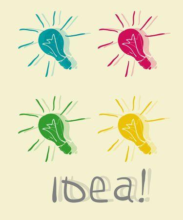 Innovative lamp  Idea Vector